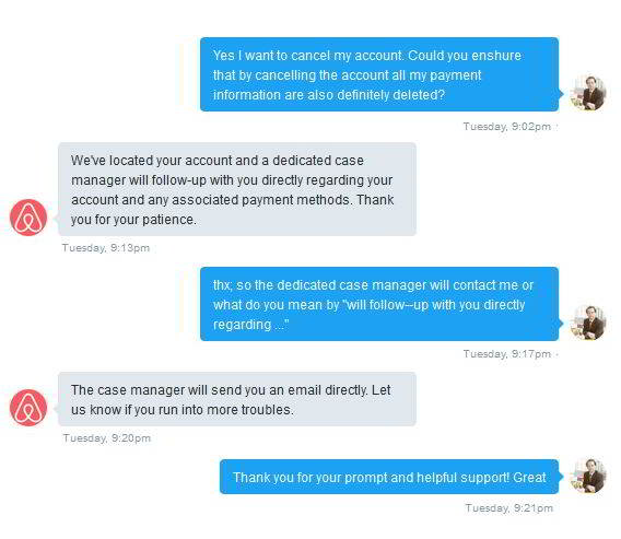 airbnb - customer experience - twitter dialog between airbnb and customer