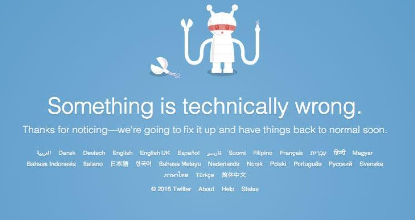 Twitter - there is something wrong